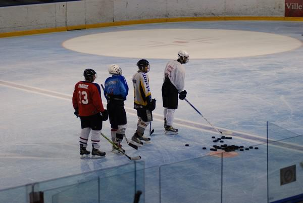 Photo hockey reportage Tours, camp d'entraînement 2010